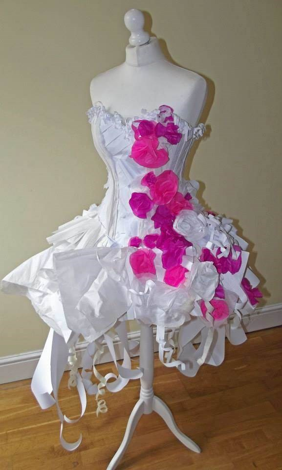 The paper wedding dress!