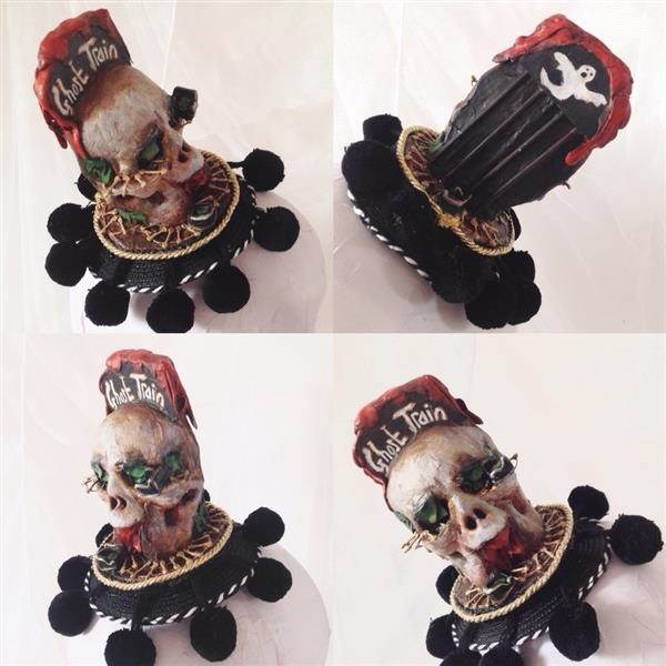 The Spooky Ghost Train Skull Fascinator
