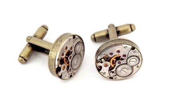 Bronze Colour Vintage Watch Movement Cufflinks