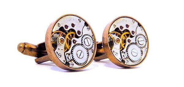 Antique Copper Style Cufflinks