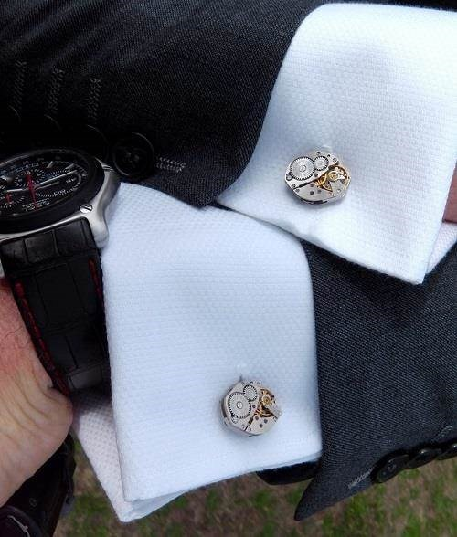 Vintage Russian Watch Movement Cufflinks