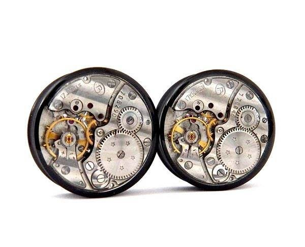 25mm Gears In Your Ears, Plug Earrings For Stretched Ears