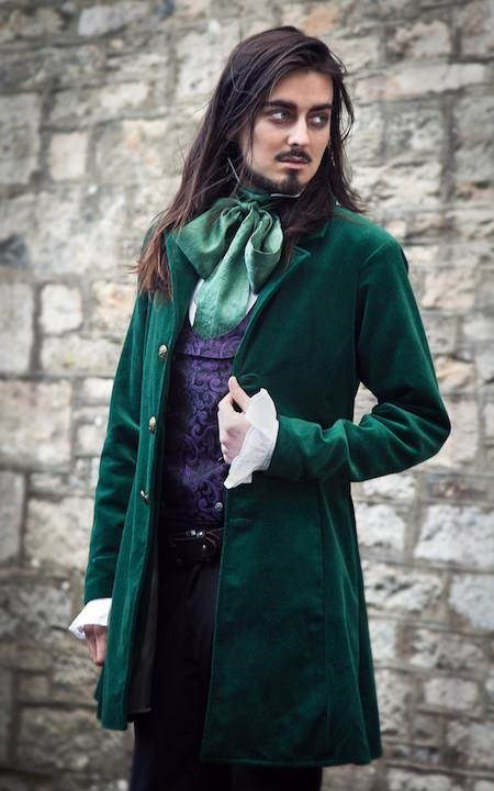 Victorian style Merton Coat in cotton velvet and lined in satin. The Dark Angel | Misfit Wedding