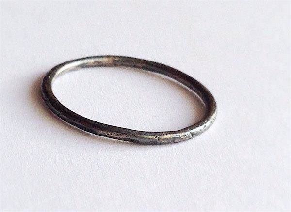 Rustic handmade halo ring