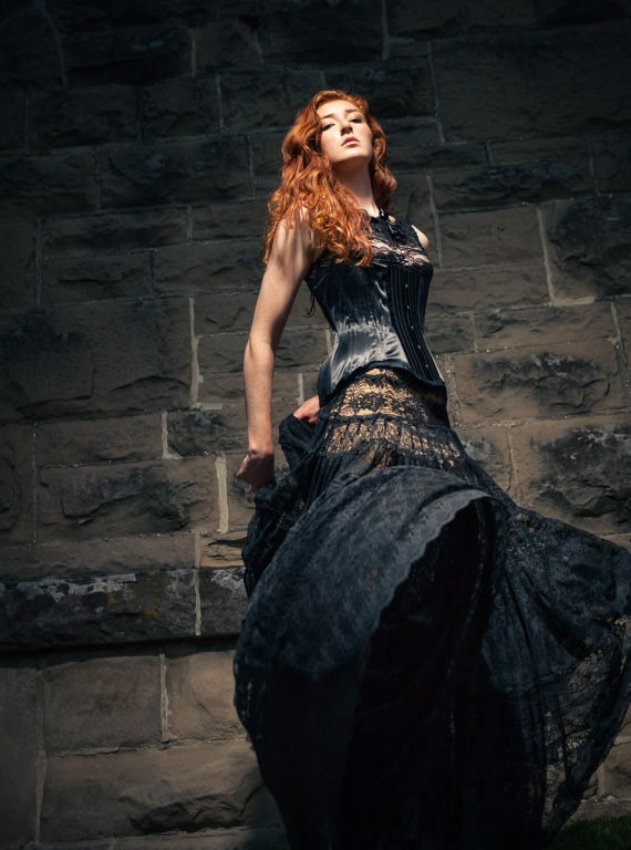 Black Wedding Dresses For Alternative Brides Misfit Wedding