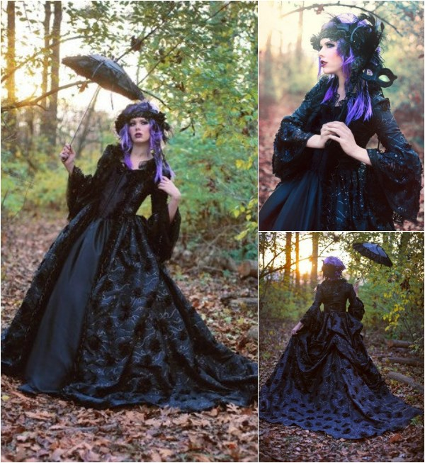 Gothic wedding dress from Romantic Threads | Misfit Wedding