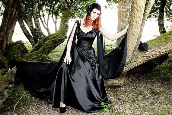 Alternative black Gothic wedding dress from Sarina Poppy | Misfit Wedding