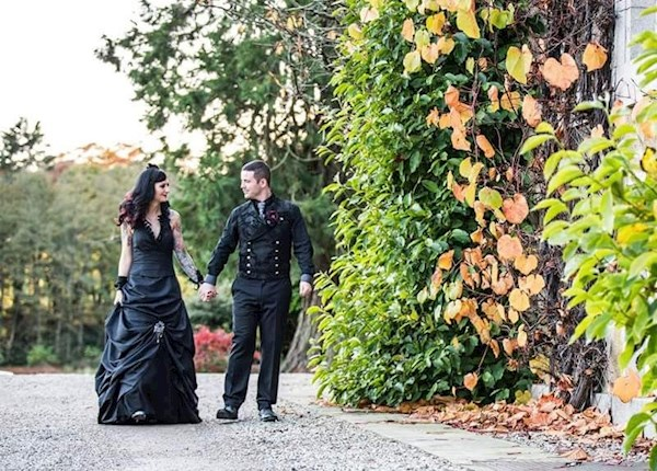 Black Wedding Dress for a Halloween Wedding | Misfit Wedding