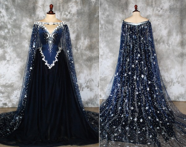 Night Goddess blue bridal gown from Alice Corsets | Misfit Wedding