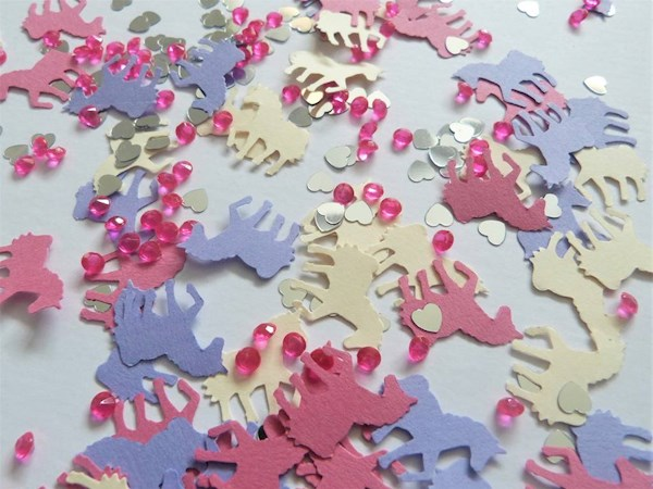 Unicorns and sparkles table confetti | Misfit Wedding
