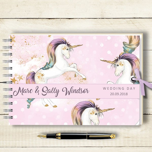 Unicorn wedding guestbook from Ebay | Misfit Wedding