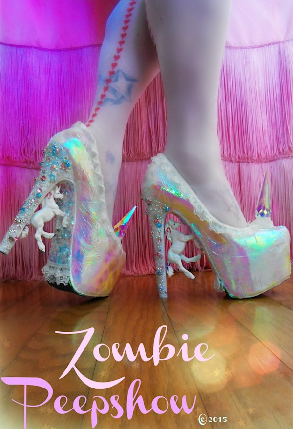 Unicorn 'Pegasus' Crystal Pumps Heels from Zombie Peepshow | Misfit Wedding