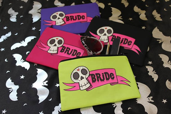 Alternative bride makeup bag from Pins & Needles | Misfit Wedding