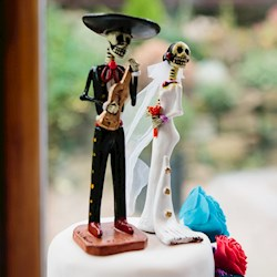 Kayleigh & Howard's Day Of The Dead Halloween Wedding