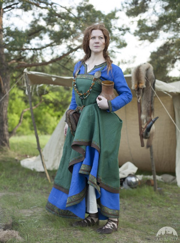 Viking Costume Dress and Apron