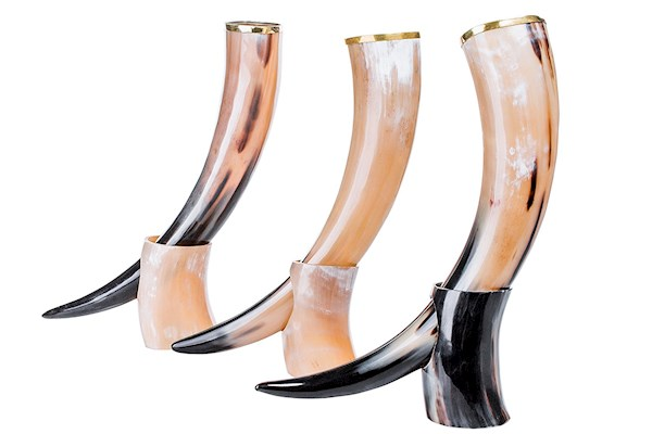 Viking drinking horns on amazon