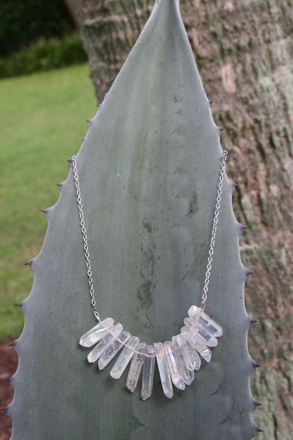 Angel Aura quartz necklace from Heather Feather's Design | Misfit Wedding