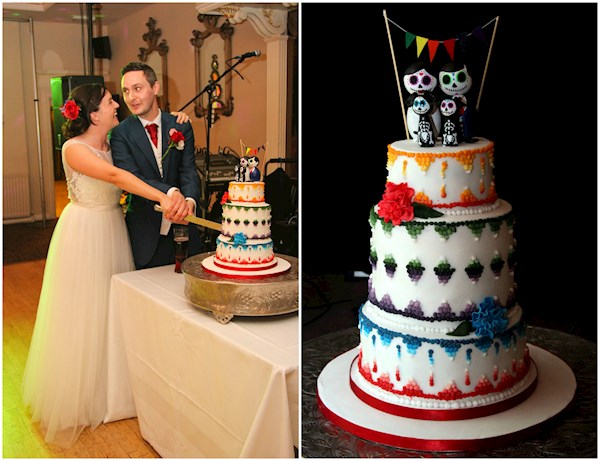 Day of the Dead DIY wedding cake