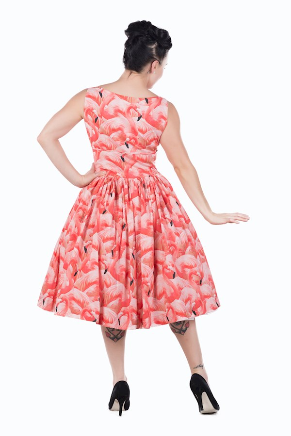 Kitsch flamingo novelty print dress from Sarsparilly | Misfit Wedding