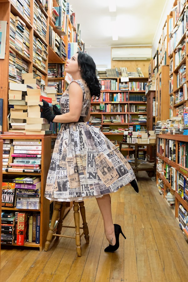 50s style Harry Potter pinup dress from Sarsparilly | Misfit Wedding