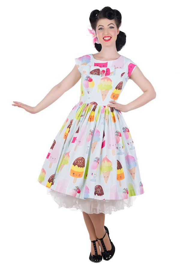 Vintage 1950s style Kawaii ice cream print dress from Sarsparilly | Misfit Wedding