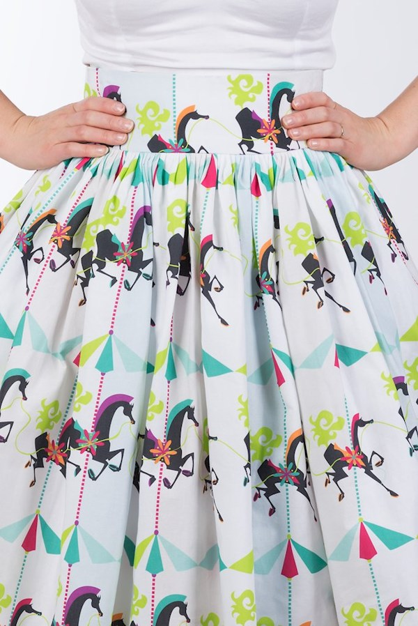 1950s style My Pretty Pony print cotton dress from Sarsparilly | Misfit Wedding
