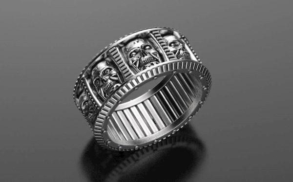 Terminator inspired wedding ring from Alien Forms   Misfit Wedding