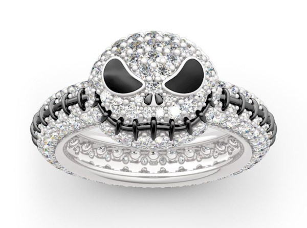 Jack Skellington, Nightmare Before Christmas diamond ring fro JEULIA | Misfit Wedding