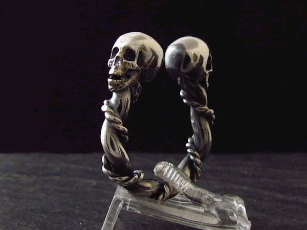 Viking inspired open skull ring from Johnnie Rocker | Misfit Wedding