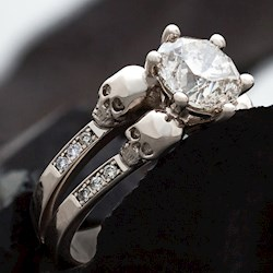 Skull Wedding & Engagement Rings