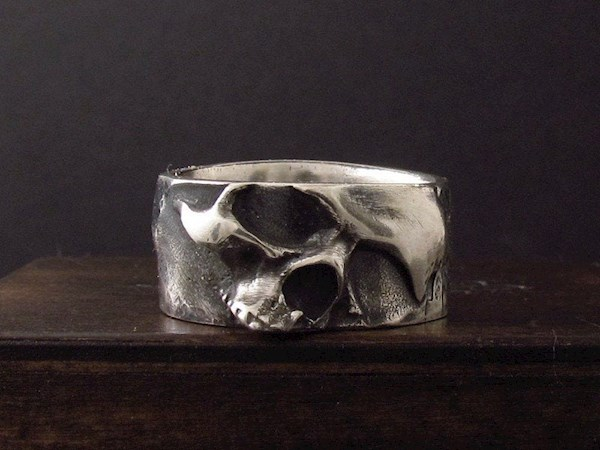 Warped skull biker ring from My Sacrum | Misfit Wedding