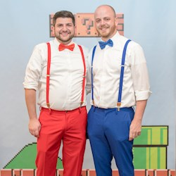 Brad and Jeff's Super Mario Themed Wedding