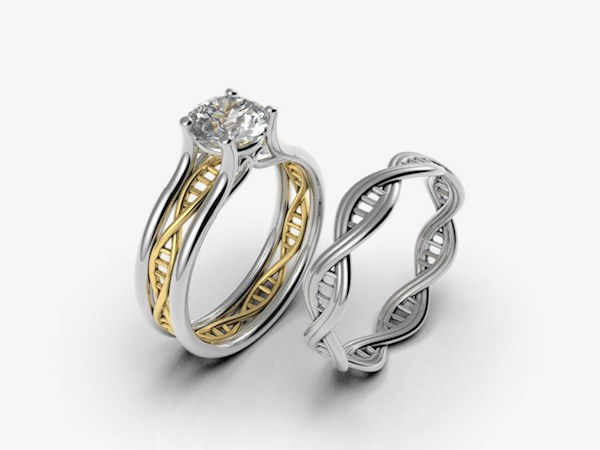 DNA Engagement Rings fro Alien Forms | Misfit Wedding