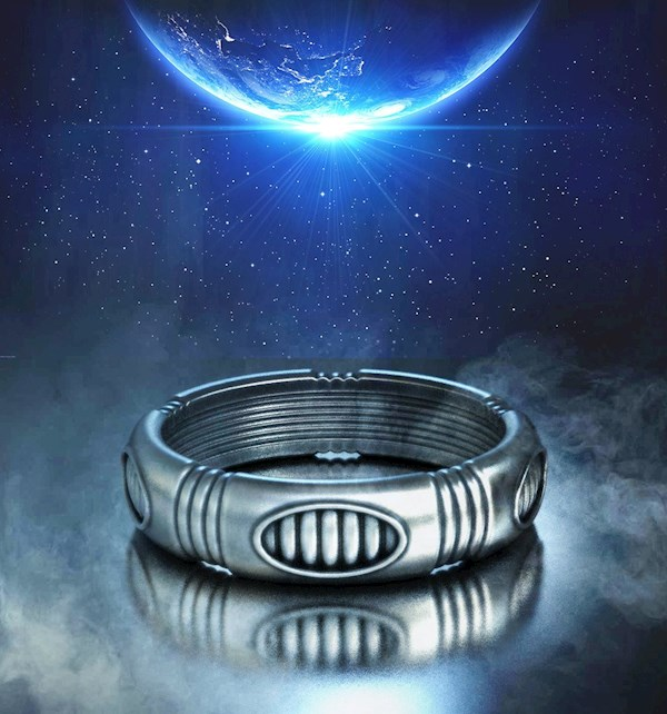 Retro Futuristic Wedding Band Design from Alien Forms | Misfit Wedding