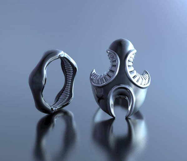 Sci-Fi Alien Wedding Rings from Alien Forms | Misfit Wedding