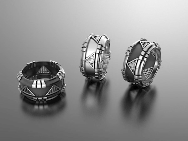 Star Wars Inspired Wedding Rings from Alien Forms | Misfit Wedding