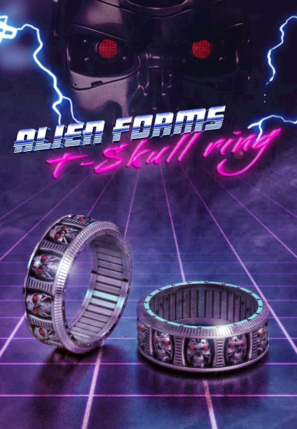 Terminator Inspired Rings from Alien Forms | Misfit Wedding