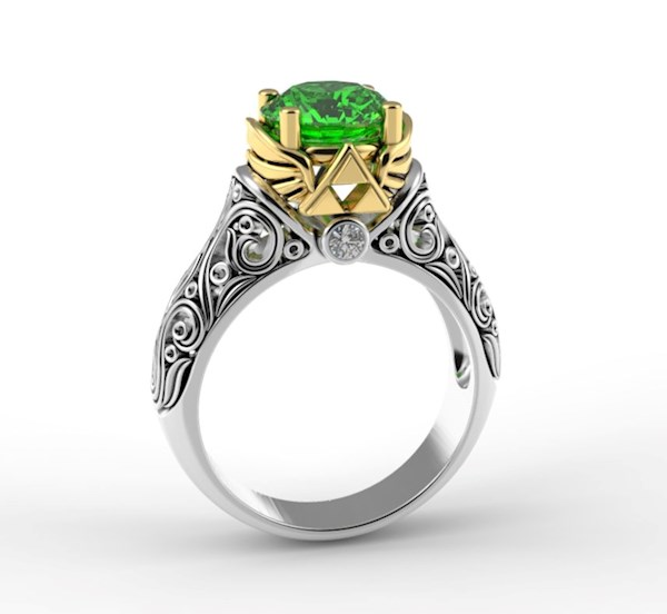 Legend of Zelda Engagement Ring from Alien Forms | Misfit Wedding
