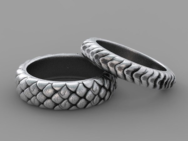 Game of Thrones Inspired, Dragon Scale Rings from Alien Forms | Misfit Wedding