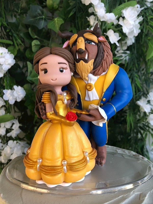 Beauty & the Beast custom caketopper from Playcraft | Misfit Wedding