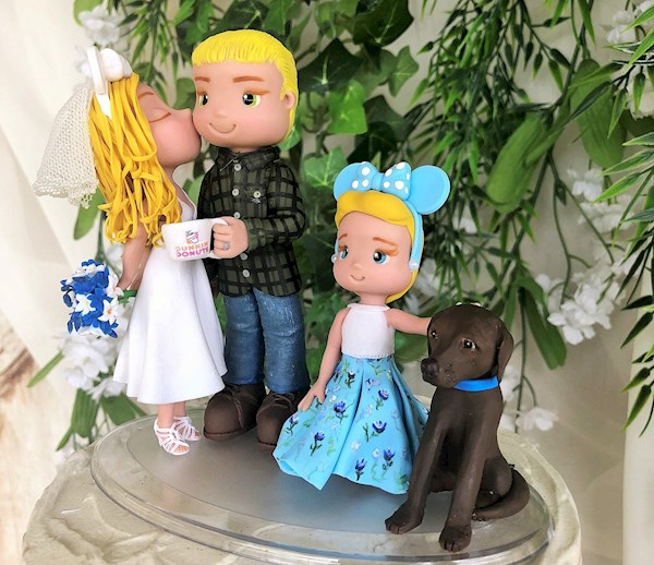 Personalise custom made family wedding cake topper from Playcraft | Misfit Wedding