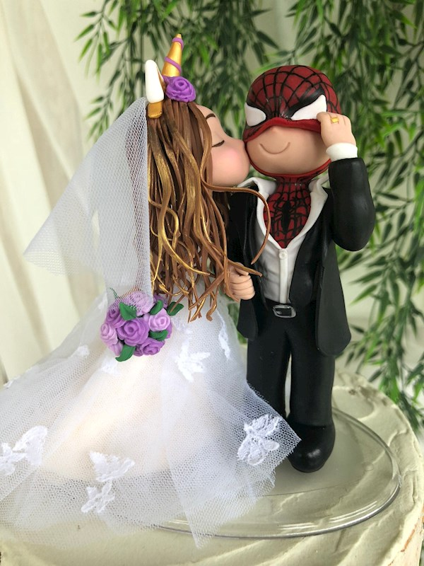 Handmade Spiderman caketopper from Playcraft | Misfit Wedding